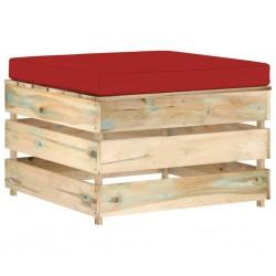 vidaXL Diván de masaje con almohada de piel de ante artificial gris