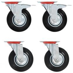 vidaXL Lámpara de focos 2 unidades negro E27