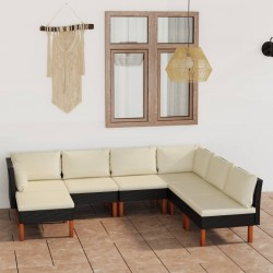 vidaXL Lámpara de techo bombillas filamento 2W negro cobre E27 80 cm