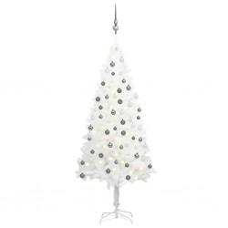 vidaXL Sábana bajera para cama de agua 160x200 cm algodón gris 2 uds
