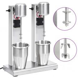 vidaXL Lámpara de araña con cuentas plateado 12 bombillas E14