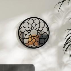 vidaXL Lámpara de araña plateada con 5 bombillas E14