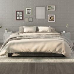 vidaXL Mesa de centro de madera maciza de teca y polirresina 40x45 cm
