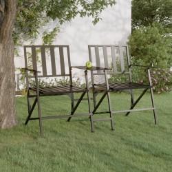 vidaXL Mesa de centro de madera maciza de teca 40x40 cm