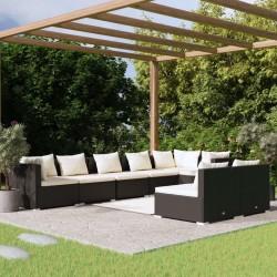 vidaXL Lámpara de pie negro y dorado E27 51 cm