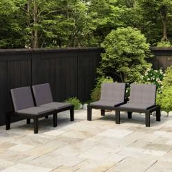 vidaXL Armario plegable de tela gris 110x45x175 cm
