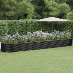 vidaXL Separador de colada con 3 bolsas acero negro