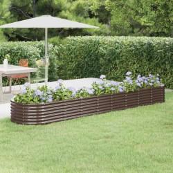 vidaXL Mueble zapatero con funda de tela color crema 58x28x106 cm