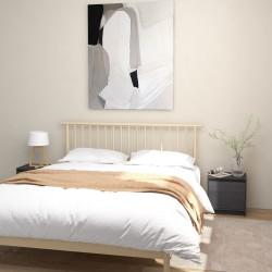 vidaXL Botellero para 12 botellas de madera maciza de pino