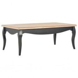 vidaXL Mesa de centro de madera maciza de acacia 100x50x46 cm