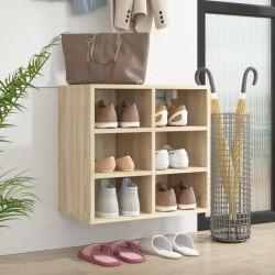 vidaXL Mesita de noche madera de paulownia gris y blanca 38x28x45 cm