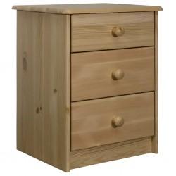 vidaXL Mueble para TV madera Paulownia blanco y marrón 115x30x40 cm
