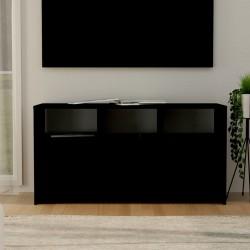 vidaXL Mueble para TV de madera negro 115x30x40 cm