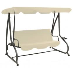 vidaXL Biombo de 3 paneles madera maciza gris 105x165 cm