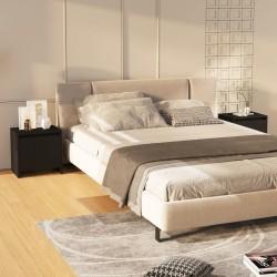 vidaXL Biombo divisor de 4 paneles madera blanco 140x165 cm