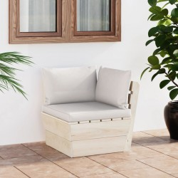 vidaXL Biombo de 3 paneles madera 105x165 cm