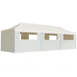 vidaXL Biombo divisor de 6 paneles pájaros blanco 210x165 cm