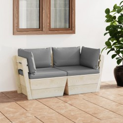vidaXL Perchero de pared de madera gris 50x10x30 cm