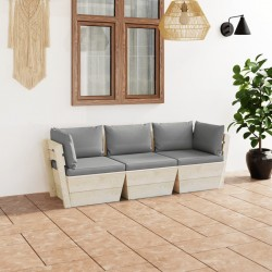 vidaXL Perchero de pared FAMILY gris 74x29,5 cm