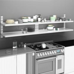 vidaXL Patas de mesa de comedor 2 unidades forma de X 80x72 cm
