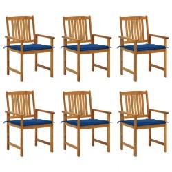 vidaXL Tablero mesa cuadrado vidrio con textura mármol blanco 80x80 cm