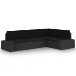 vidaXL Biombo 4 paneles tallado a mano madera mango marrón 160x165 cm