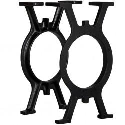vidaXL Biombo 3 paneles tallado a mano madera mango blanco 120x165 cm