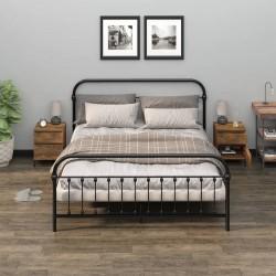 vidaXL Fundas de mesa elásticas 2 uds 80 cm blanco y estampado dorado