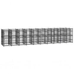 vidaXL Fundas elásticas para mesa 2 uds con falda 180x74 cm negro
