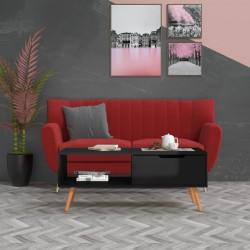 vidaXL Fundas de mesa elásticas con falda 2 uds 183x76x74 cm negro