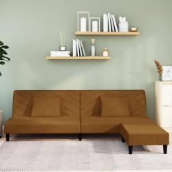 vidaXL Estantería 2 niveles madera maciza mango y acero 110x35x75 cm