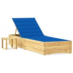 vidaXL Estantería 2 niveles madera maciza mango y acero 80x35x75 cm