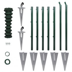 vidaXL Manta a rayas de algodón rosa envejecido 220x250 cm