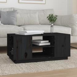 vidaXL Mantel individual 4 unidades liso redondo algodón negro 38 cm