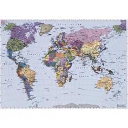 vidaXL Mantel individual 6 uds liso redondo yute y algodón negro 38 cm