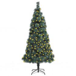 vidaXL Mantel individual 6 uds redondo yute y algodón azul marino 38cm