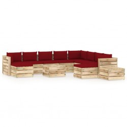 vidaXL Banco de jardín de madera y hierro 112 cm