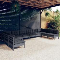 Esschert Desig Soporte de sombrilla 11,5 kg 25x25x24 cm gris PV11