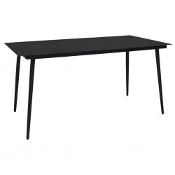 Conjunto de 2 sillas de jardín mosaico terracota blanco