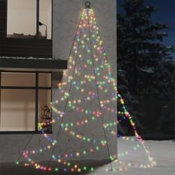 vidaXL Cortinas con anillas de metal 2 uds algodón verde 140x225 cm