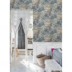 vidaXL Cortinas y anillas de metal 2 uds algodón gris y rosa 140x245cm