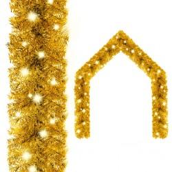 vidaXL Cortinas y anillas metal 2 uds algodón flores verde 140x245 cm