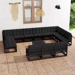 Madison Funda para muebles de jardín 200 cm redonda gris