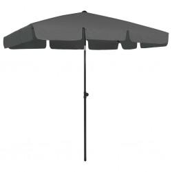 HI Silla reclinable de jardín de aluminio gris