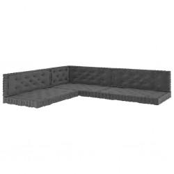 vidaXL Valla de jardín con postes 3 piezas WPC 600x120 cm