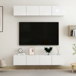 FMD Escritorio con 1 cajón color hormigón y blanco 123x50x76,5 cm