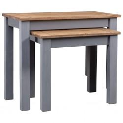 vidaXL Armario de tela y madera de pino 110x40x170 cm