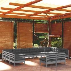 vidaXL Mesa de jardín de madera de teca maciza 180x90x75 cm