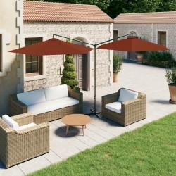 vidaXL 15x Postes puntiagudos de valla pino impregnado 4x150 cm