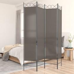 vidaXL Sillas de jardín apilables 6 unidades acero y textileno negro